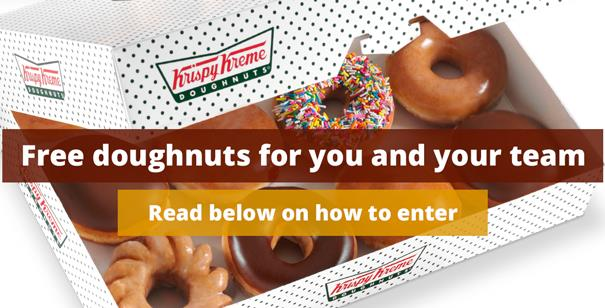 Win free doughnuts for you and your team with Roast & Ground